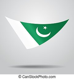 Pakistani flag background. Vector illustration. - Pakistani...