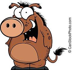 Happy Warthog - Illustration of a cartoon warthog with a...