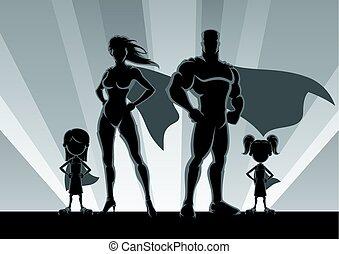 Superhero Family 2 Girls