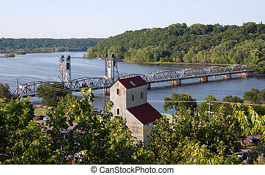 Looking Down Over the St. Croix River - Looking down over...