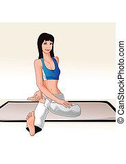 Woman in Yoga