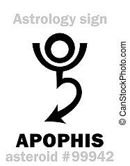 Astrology: asteroid APOPHIS - Astrology Alphabet: APOPHIS...