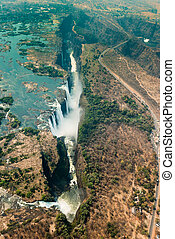 Victoria Falls in Zimbabe at drought - Victoria Falls in...
