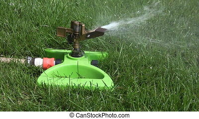 Lawn sprinkler. Two shots.