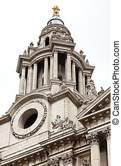 18th century St Paul Cathedral, London, United Kingdom. It...