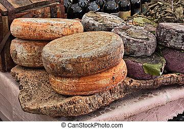 sheep milk cheese from Sardinia, Italy