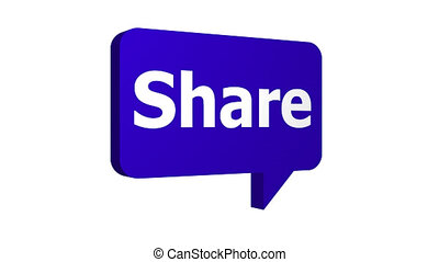Share Speech Bubble Popping Up Three Angles With Alpha -...