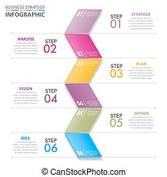 Business Infographics strategy design elements template...