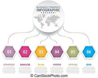 Business Infographics design template illustration. -...