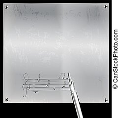 metal page with image of music