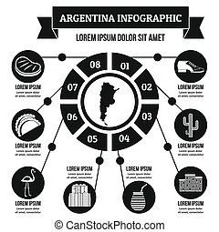 Argentina infographic concept, simple style - Argentina...
