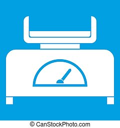 Weight scale icon white