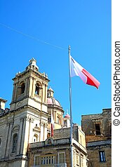 St Lawrence Church, Vittoriosa. - View of St Lawrence church...