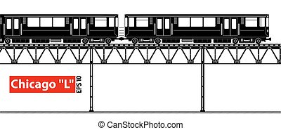 An overground high-speed subway. City ecological transport....