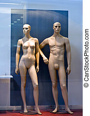 Dummy, female and male - Female and male figure in the...