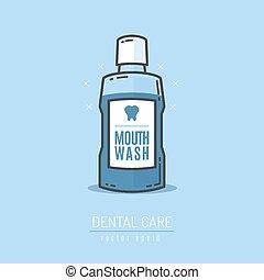 Mouthwash bottle vector illustration
