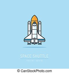 Space Shuttle - Space shuttle icon vector illustration
