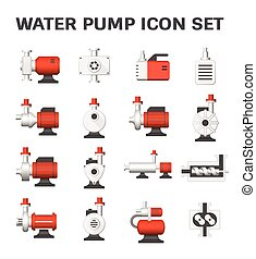 water pump icon - Vector icon of water pump station for...
