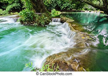 Chet-Sao-Noi waterfall in Khao Yai National Park,. -...