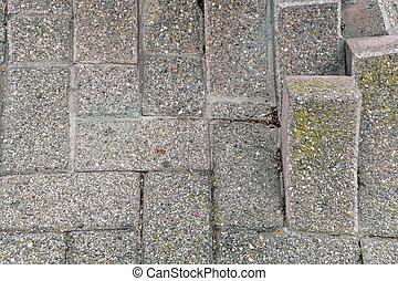 uneven brick design - close up of uneven brick pattern