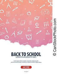 Back to School background. Education banner. Vector...