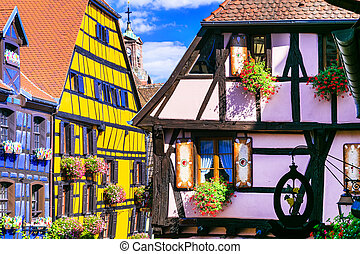 Riquewihr in France -romantic medieval city on the Alsace...