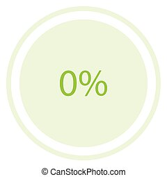 Round pie graph - Vector illustration green round, circle...