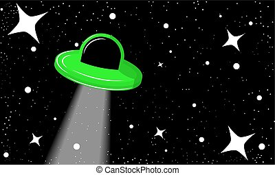 UFO in the starry sky