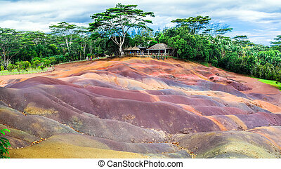 "Attractions of Mauritius - Unique ""seven colours earth""..."