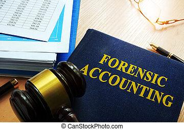 contabilidade, forense, tabela, livro, Título