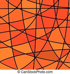 abstract vector stained-glass mosaic background - red and...