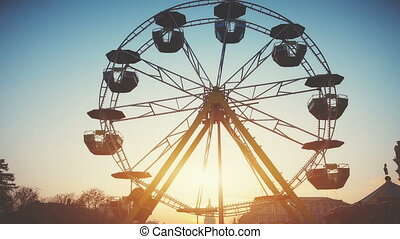 Children's Ferris wheel with cabs