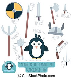 Penguin do it yourself template with weapons.