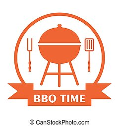 bbq time red logo