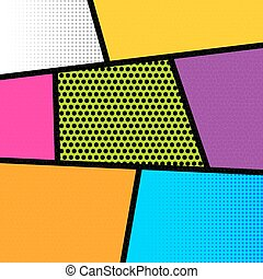 Pop art comic book strip background - Pop art comics book...