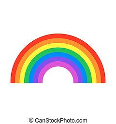 Rainbow symbol isolated on white background