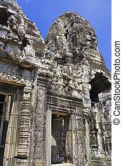 Bayon, templo, angkor, Thom, camboya