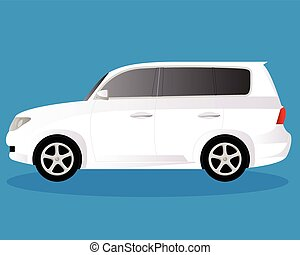 Off-road vehicle car body type vector illustration
