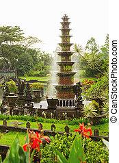 Water Palace of Tirta Gangga. Landmark in Bali, Karangasem,...