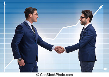 Business cooperation concept with businessmen hand shaking