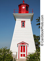 Traditional Wooden Lighthouse on Prince Edward Island in...