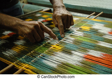 production and weaving of carpets and fabrics - weaving and...