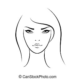 Beautiful woman face icon