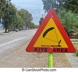 kitesurfing area sign
