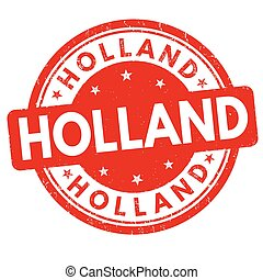 Holland sign or stamp - Holland grunge rubber stamp on white...