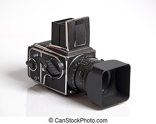 High End Camera - The photo shows a high end camera over...