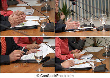 business table 1 - collection of picures of conference...