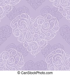 Seamless pattern with beautiful hearts