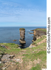 Yesnaby Sea Stack,west Orkney mainland, UK. An imposing sea...
