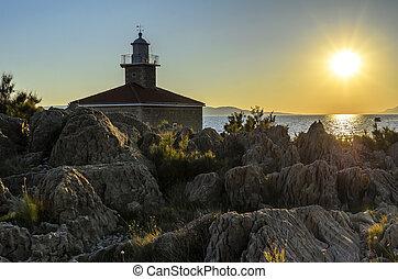 Small church on the beach.
